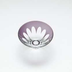 Edo Glass Guinomi Sakasa Fuji (Upside-down Mt. Fuji sake cup, Edo glass)